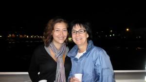 drinking wine on the Seine